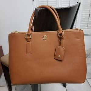 Tory burch large Robinson double zip tote